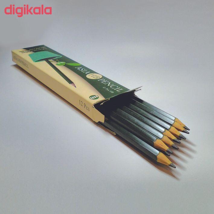 مداد مشکی آسیا مدل A21C بسته 12 عددی main 1 2