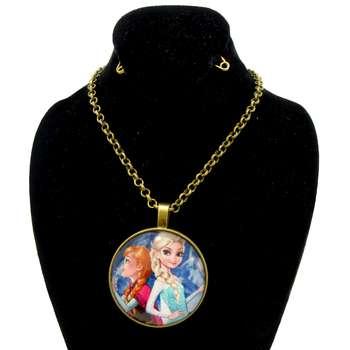 گردنبند دخترانه طرح السا و آنا کد 096