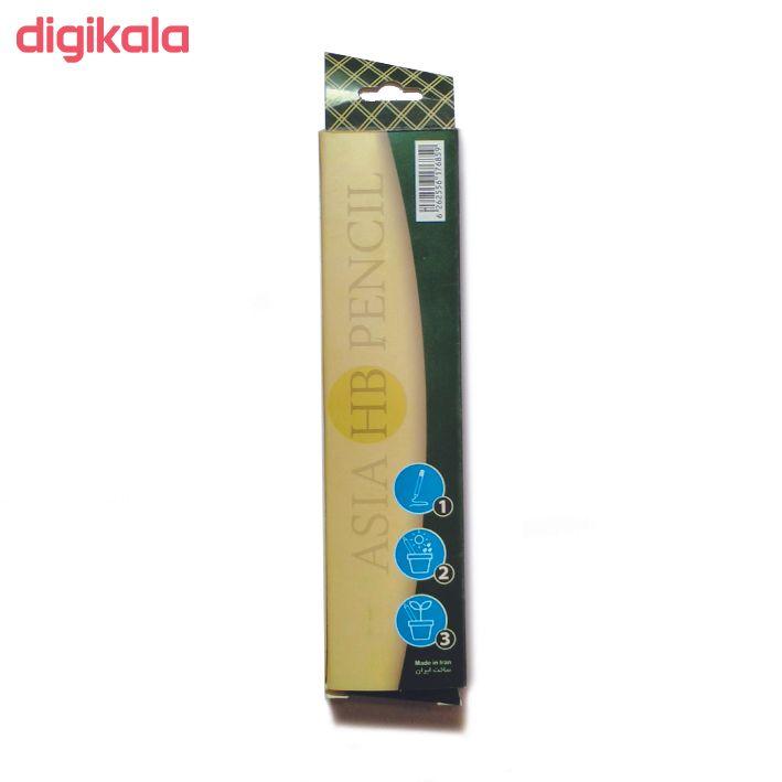 مداد مشکی آسیا مدل A21C بسته 12 عددی main 1 1