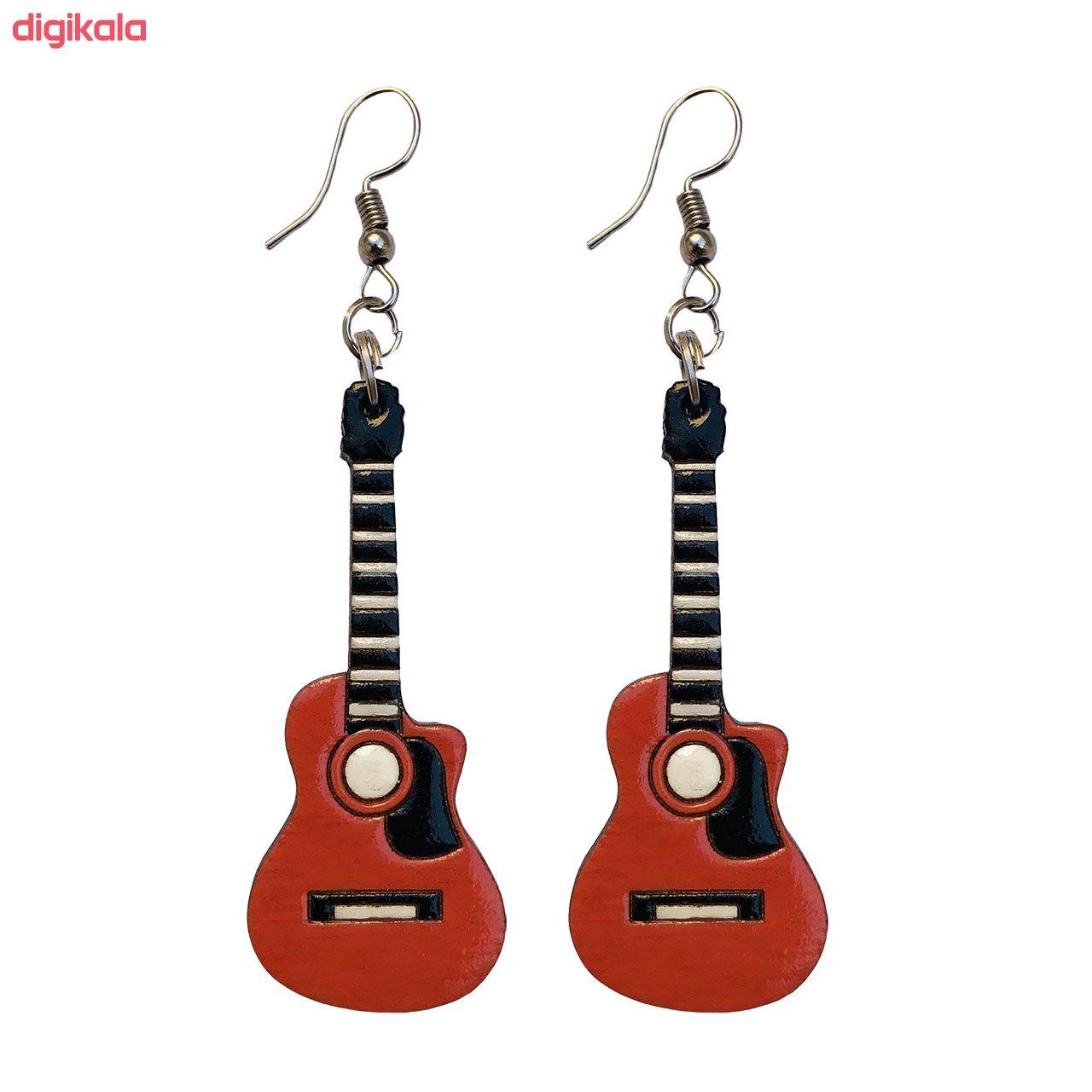 گوشواره زنانه طرح گیتار کلاسیک کد 012 main 1 1