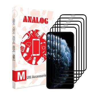 محافظ صفحه نمایش آنالوگ مدل GLS مناسب برای گوشی موبایل اپل iphone 11 بسته 5 عددی
