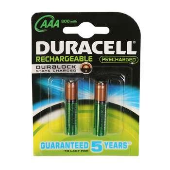 باتری نیم قلمی قابل شارژ دوراسل مدل Duralock HR03 بسته 2 عددی