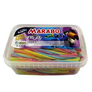 پاستیل پیچشی شکری میوه ای ترش مارابو - 900 گرم