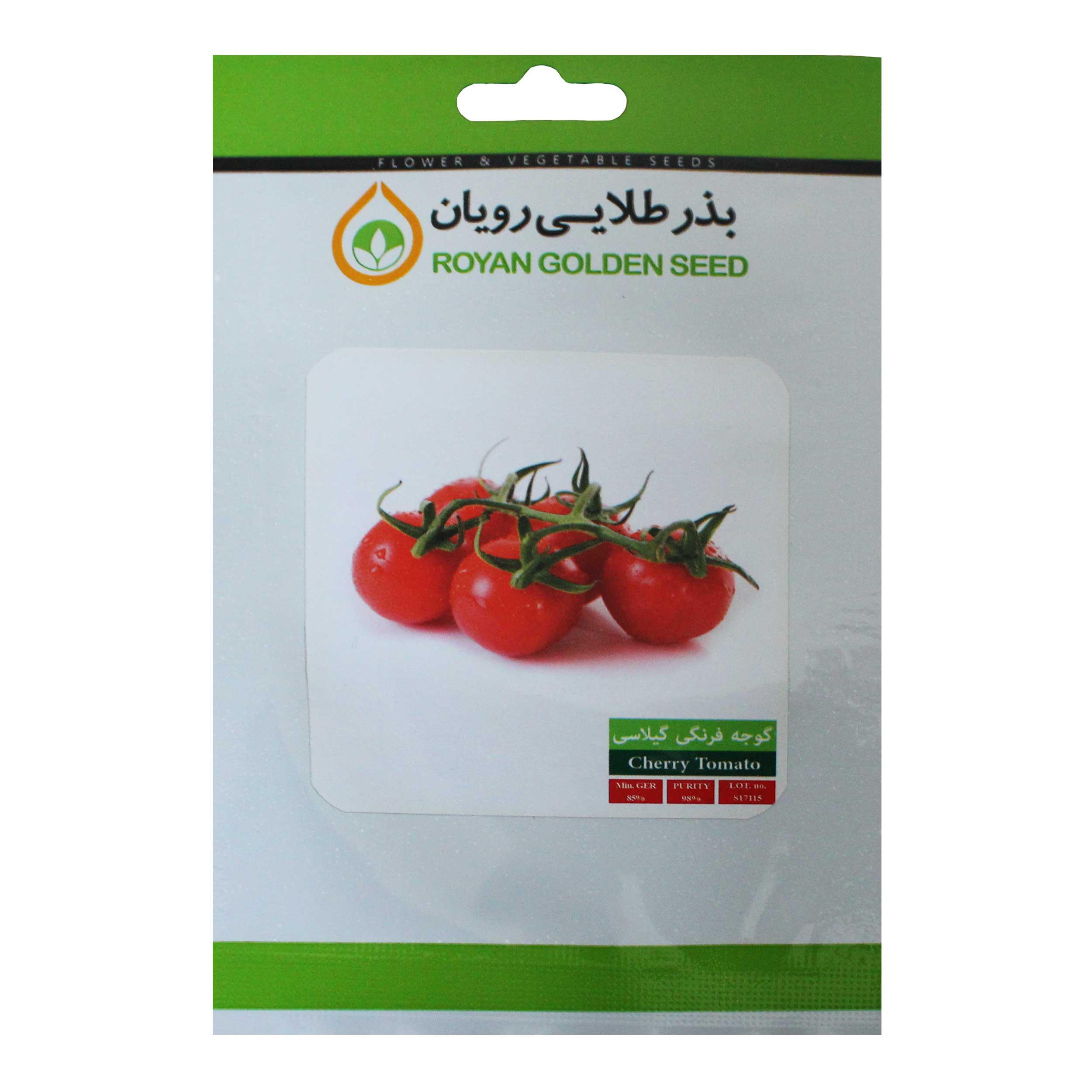 بذر گوجه گیلاسی قرمز بذر طلایی رویان مدل BZTR-077