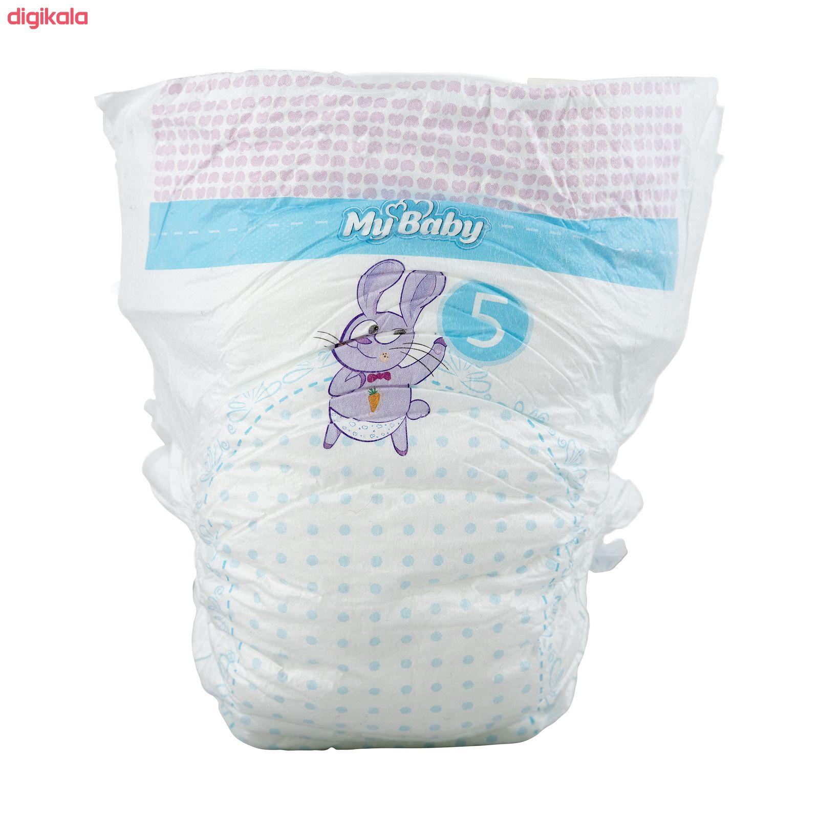 پوشک مای بیبی آبی سری مهربان با پوست سایز 5 بسته 28 عددی main 1 5
