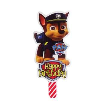 شمع تولد طرح سگ های نگهبان کد 004