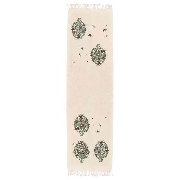 رومیزی چاپ دستی گدار طرح تذرو کد T-GRnr