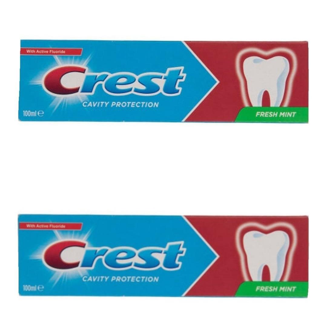 خمیر دندان کرست سری Cavity Protection مدل Fresh Mint حجم 100 میلی لیتر بسته دو عددی