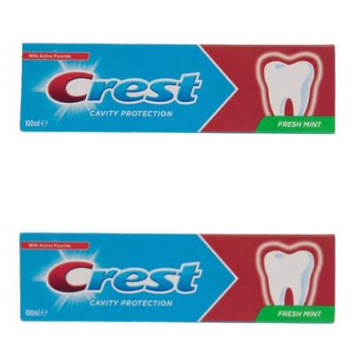 تصویر خمیر دندان کرست سری Cavity Protection مدل Fresh Mint حجم 100 میلی لیتر بسته دو عددی