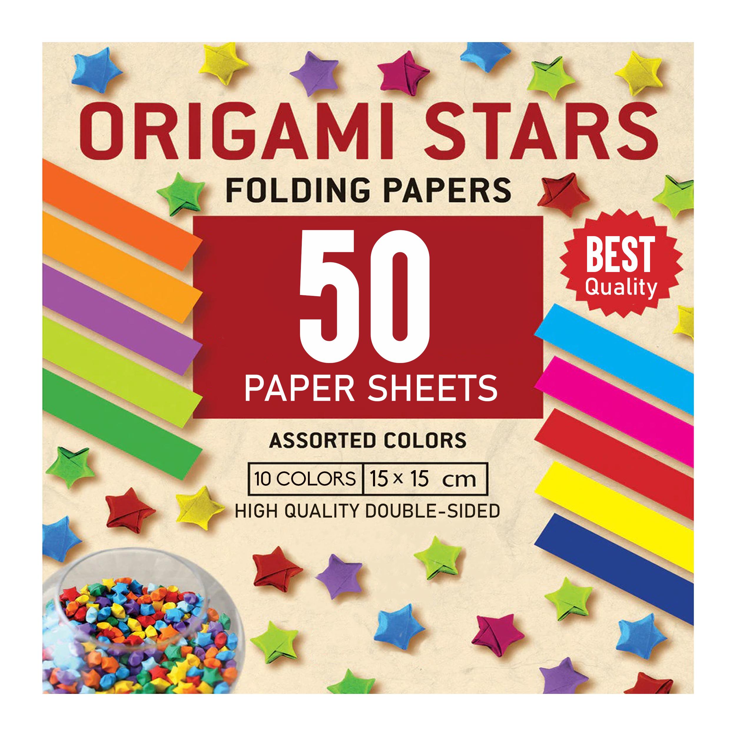 کاغذ اوریگامی استار کد 1515 بسته 50 عددی