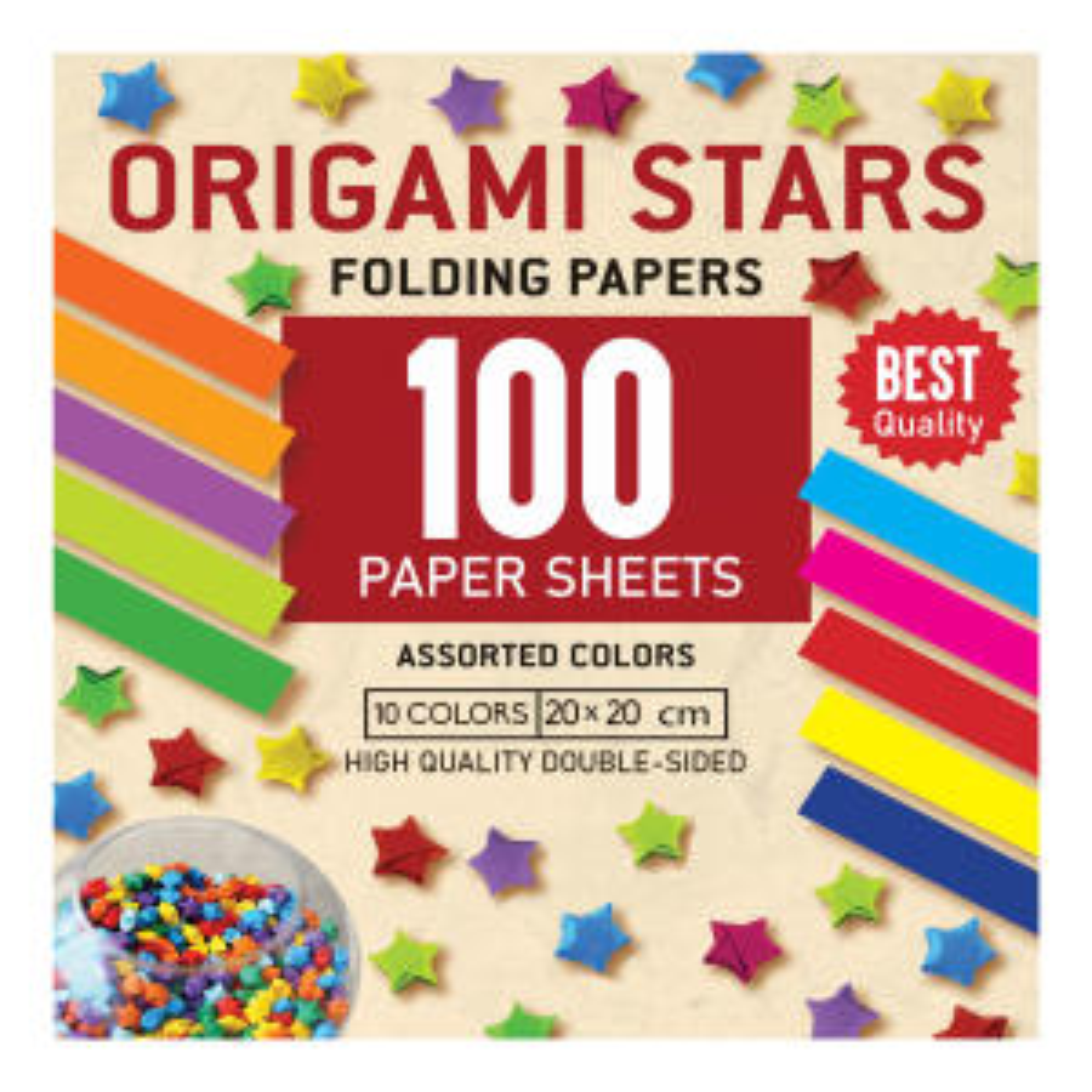 کاغذ اوریگامی استار کد 2020 بسته 100 عددی