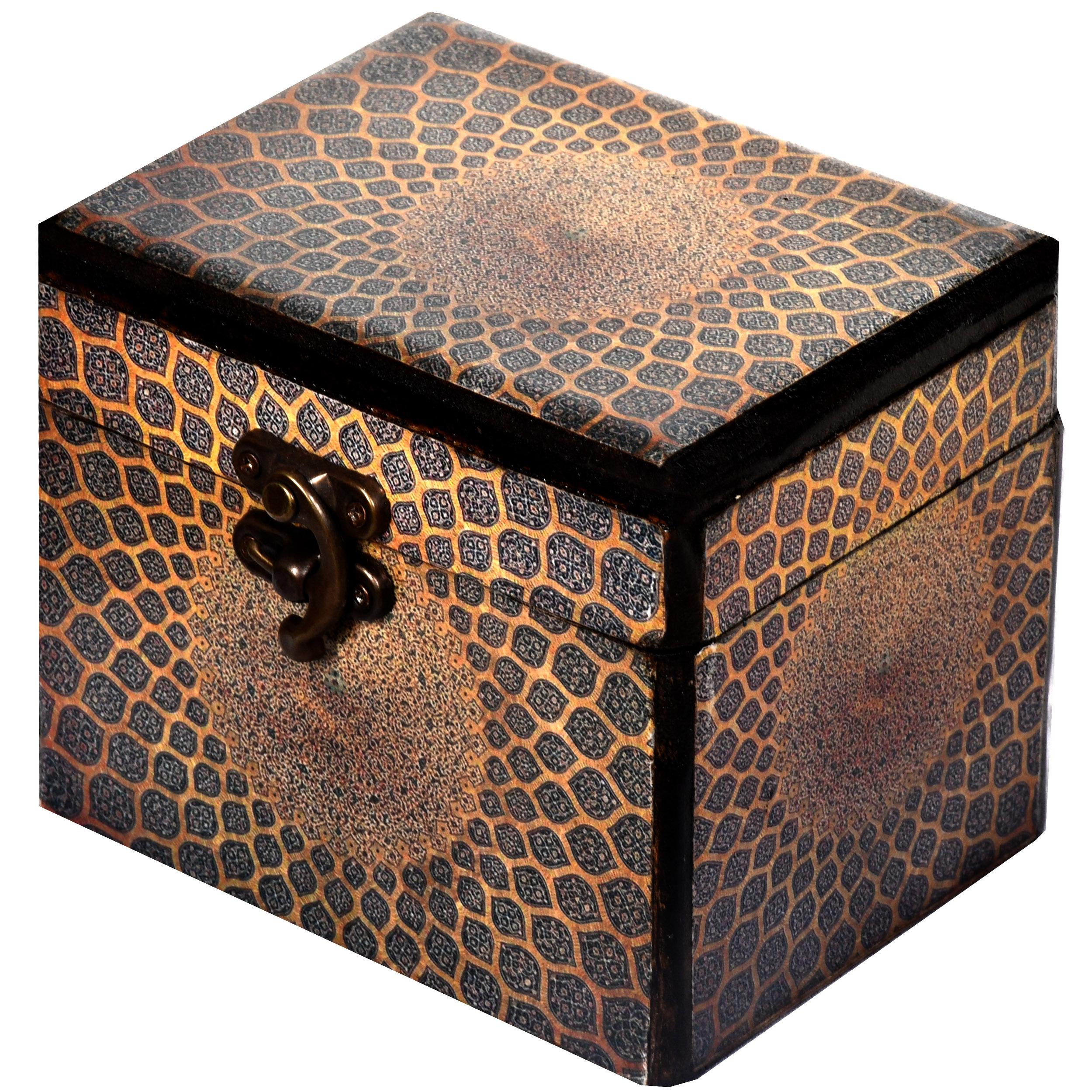 خرید                      جعبه هدیه چوبی طرح طاق گنبد کد 06