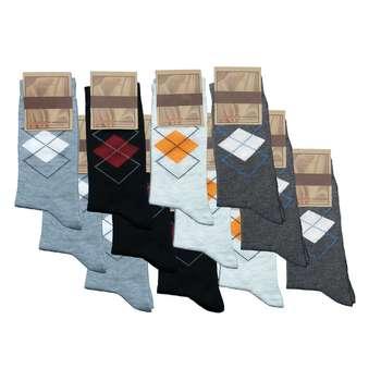 جوراب مردانه کد 9002 مجموعه 12 عددی
