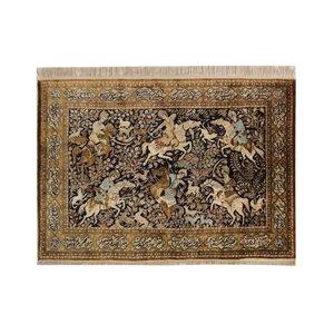 فرش دستبافت قدیمی یک ونیم متری کد  1103149