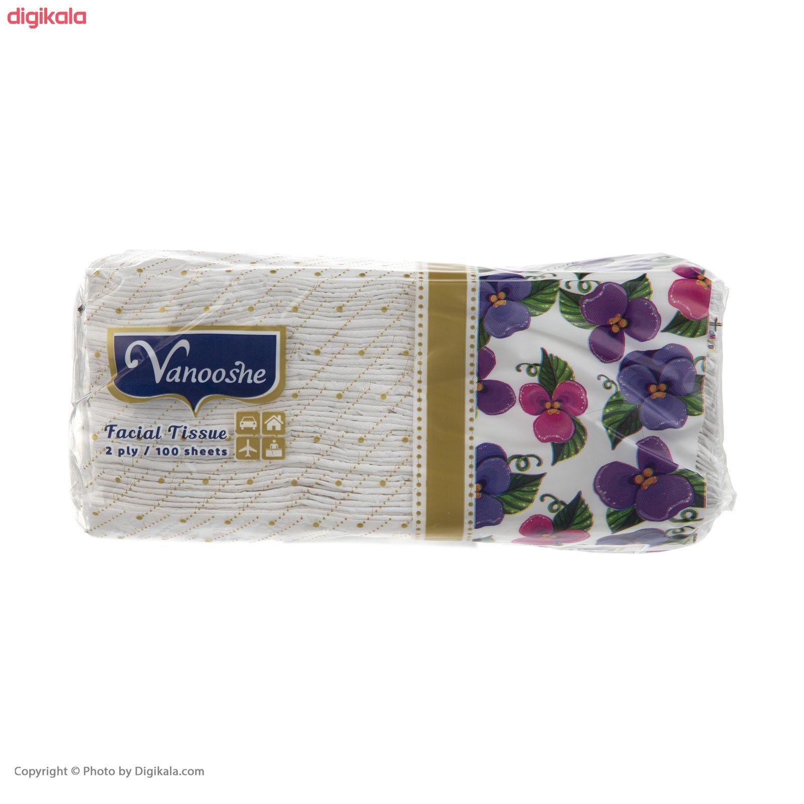 دستمال کاغذی 100 برگ ونوشه طرح Flower بسته 10 عددی main 1 2