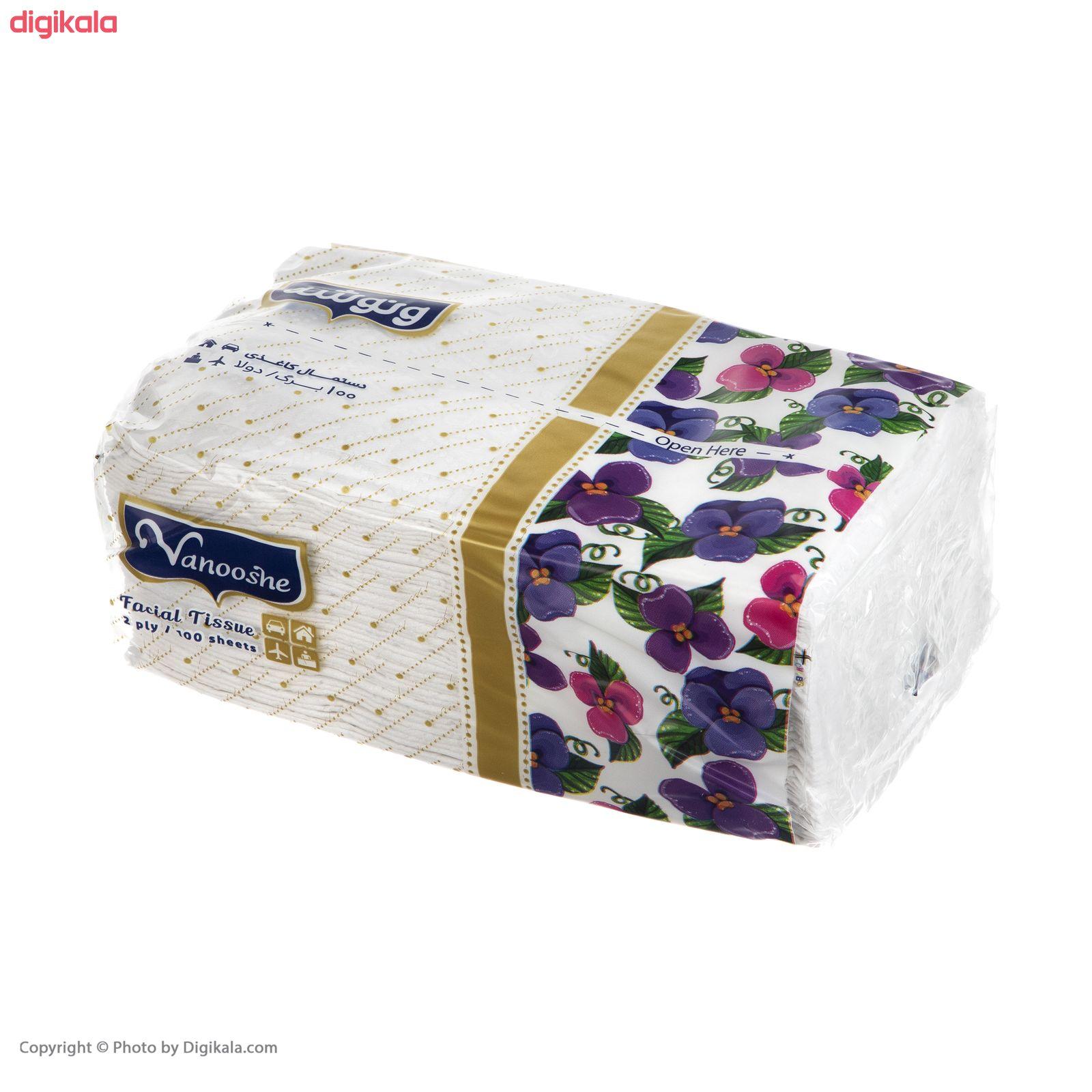 دستمال کاغذی 100 برگ ونوشه طرح Flower بسته 10 عددی main 1 3