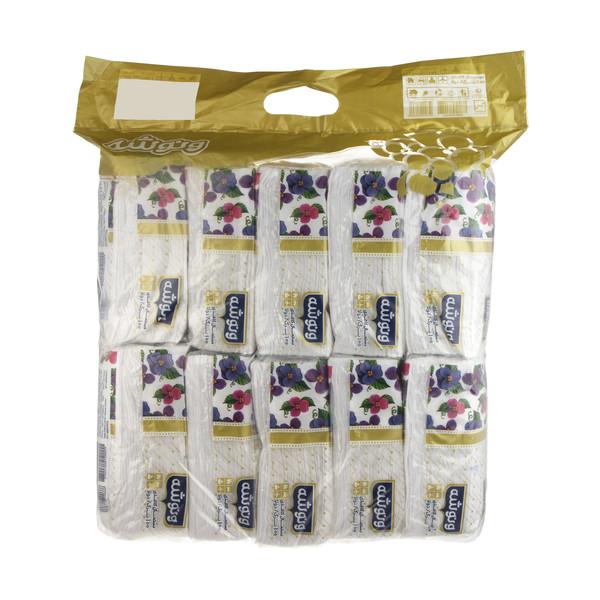 دستمال کاغذی 100 برگ ونوشه طرح Flower بسته 10 عددی