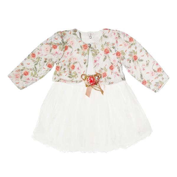 ست پیراهن و جلیقه نوزادی دخترانه کد 10023