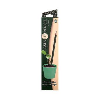مداد مشکی آسیا مدل A21C بسته 12 عددی