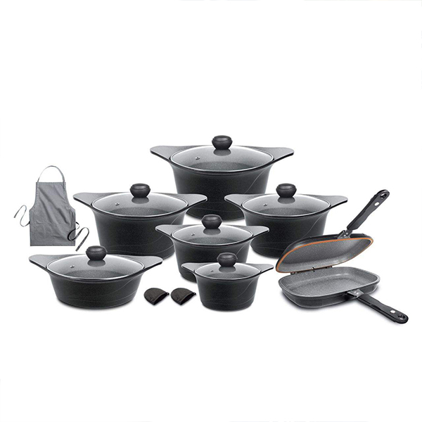 سرویس پخت و پز 17 پارچه گلد کرون مدل KOREA C