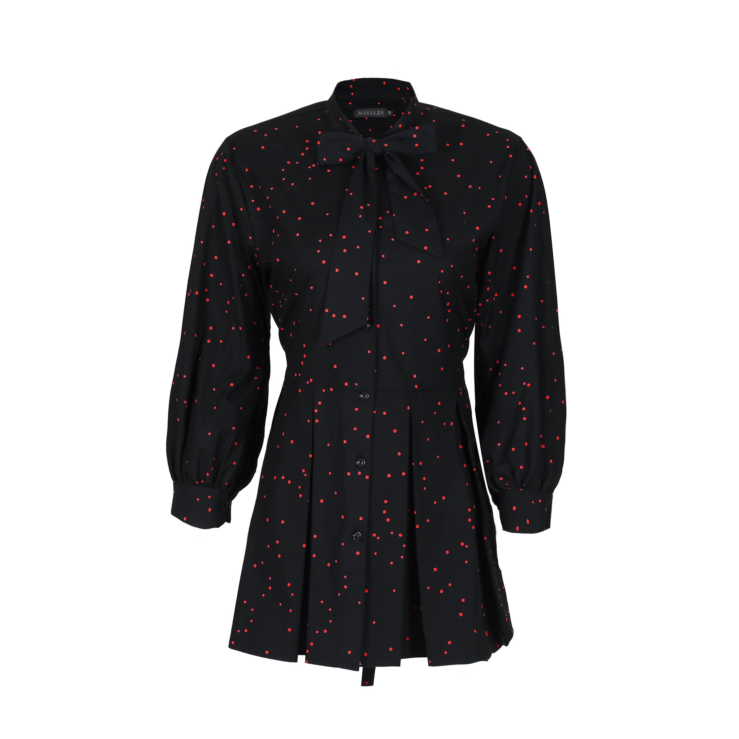 پیراهن زنانه ناوالس کد Dots-rd