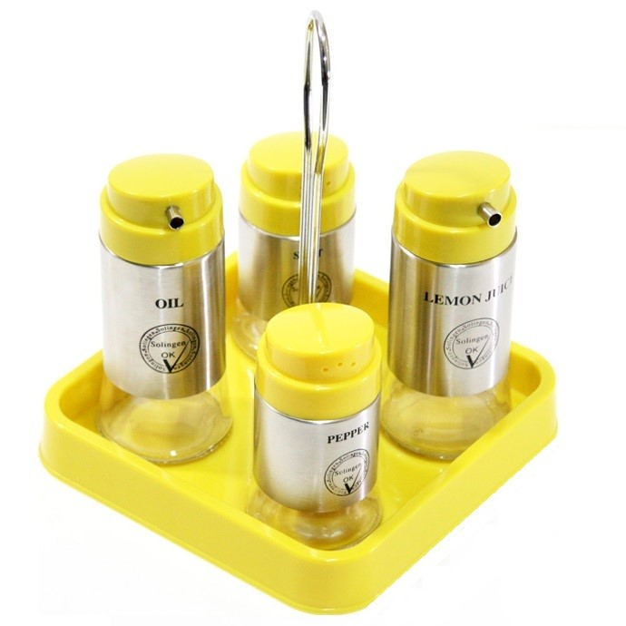 ست آبلیموخوری و نمک پاش 5 پارچه زولینگن مدل basil 2