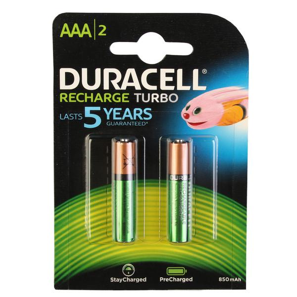 باتری نیم قلمی قابل شارژ دوراسل مدل TURBO Duralock HR03 بسته 2 عددی