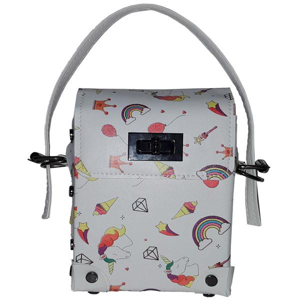کیف دستی دخترانه طرح اسب شاخ دار کد 123