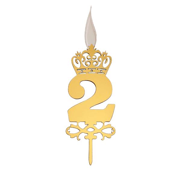 شمع تولد طرح عدد 2 کد TG130