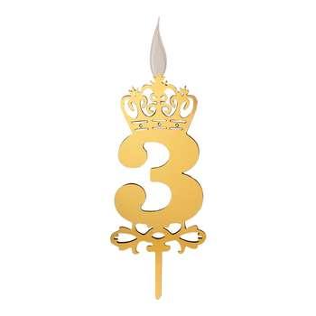 شمع تولد طرح عدد 3 کد TG130