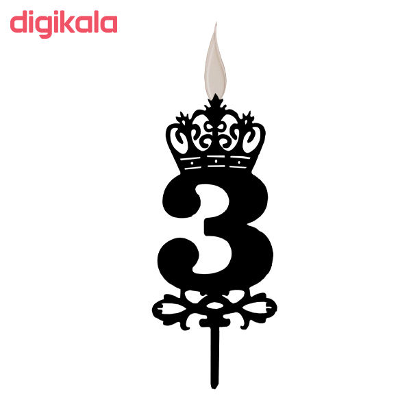 شمع تولد طرح عدد 3 کد TG130 main 1 2