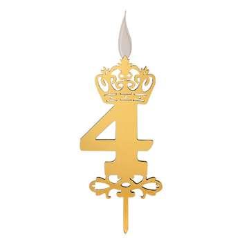 شمع تولد طرح عدد 4 کد TG130