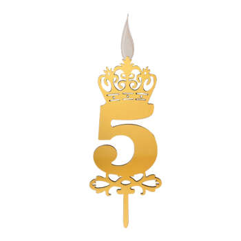 شمع تولد طرح عدد 5 کد TG130