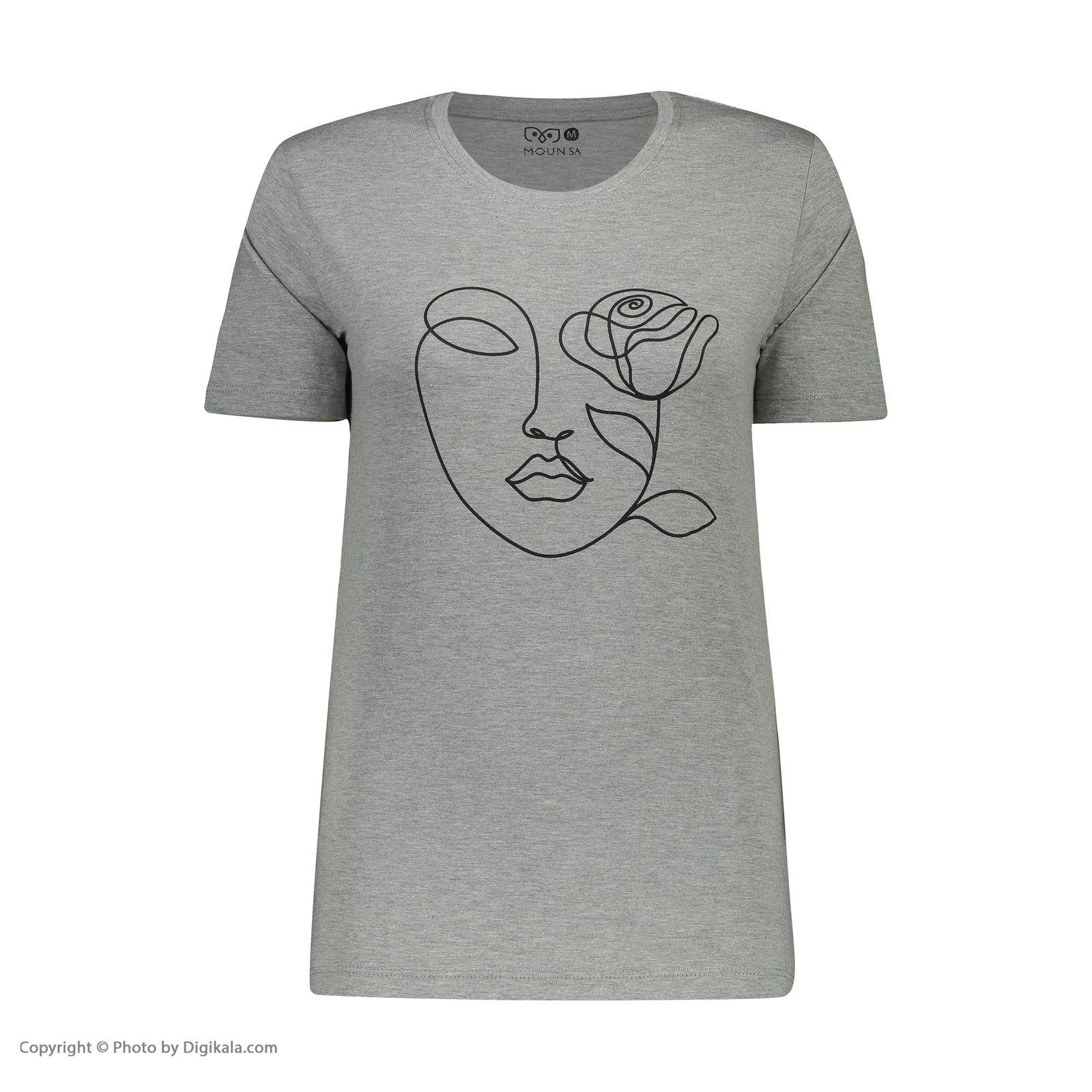 تصویر تی شرت زنانه مون مدل 163117093