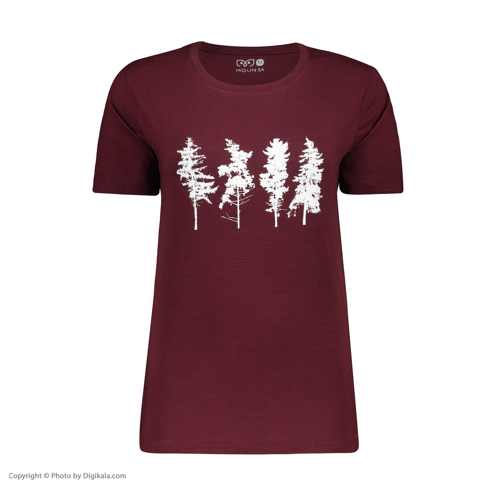تصویر تی شرت زنانه مون مدل 163116770
