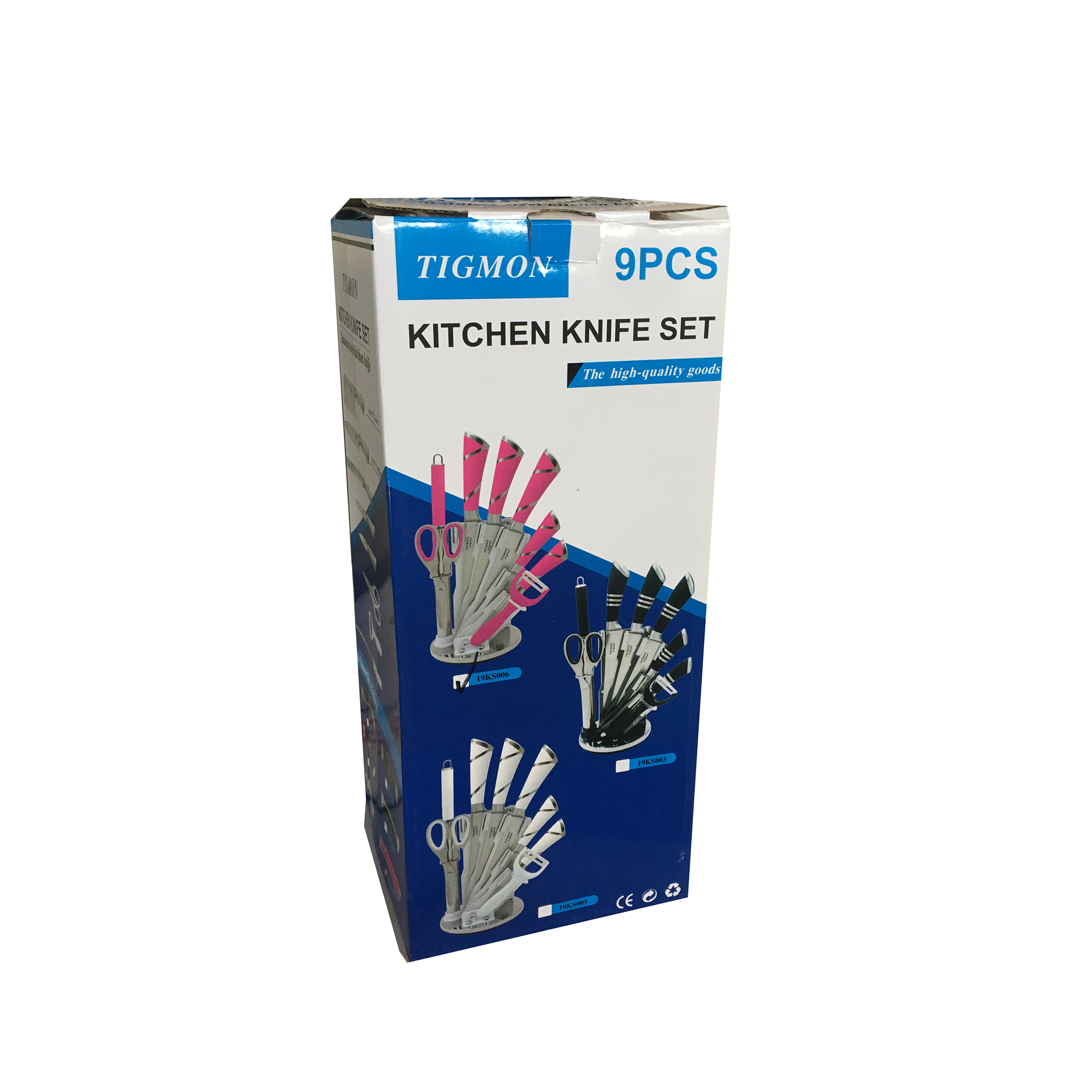 سرویس چاقو آشپزخانه 9 پارچه تیگمون مدل 1012