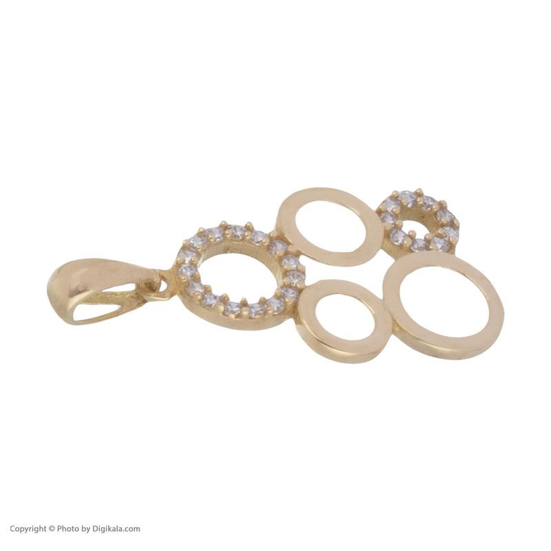 آویز گردنبند طلا 18 عیار زنانه میو گلد مدل GD415