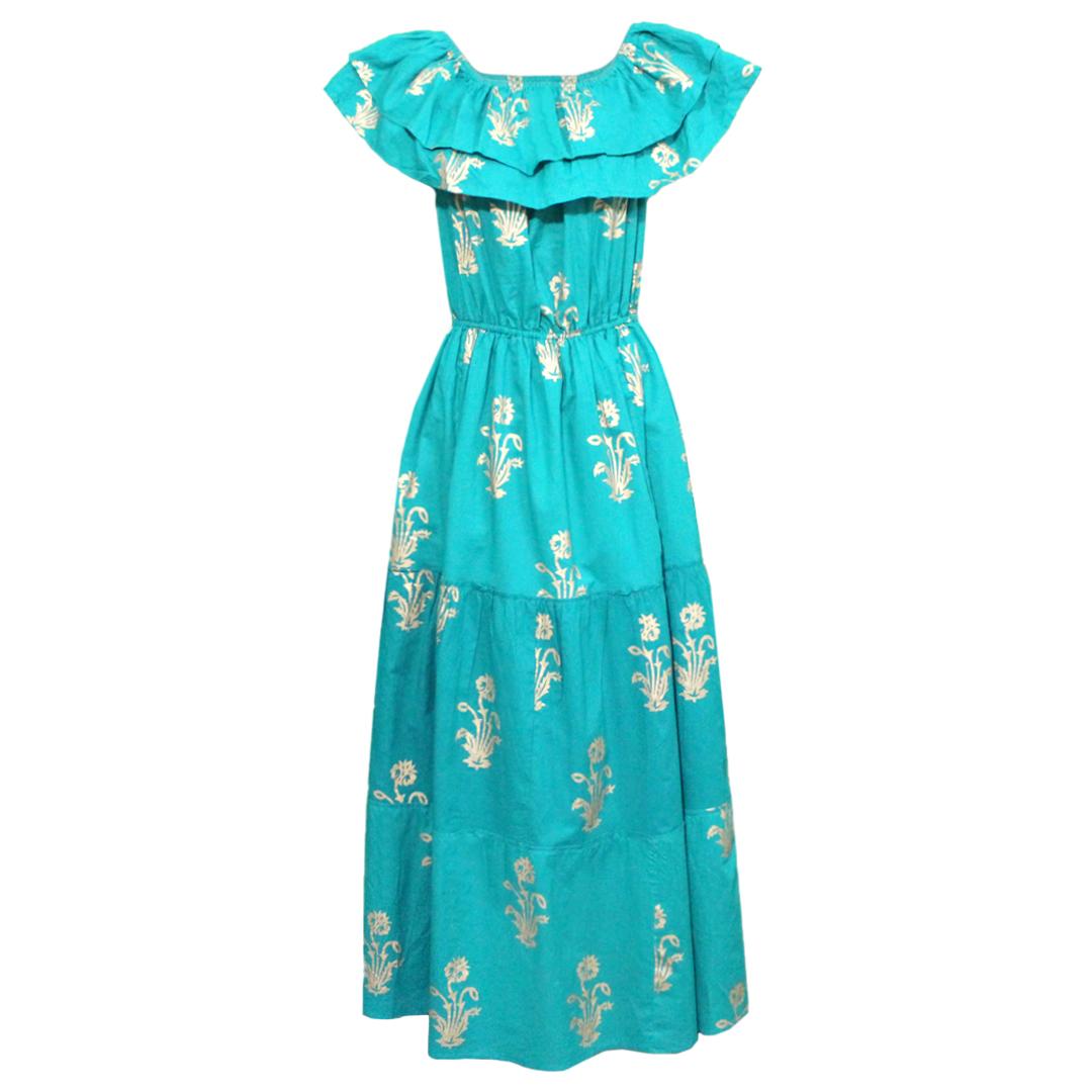 پیراهن ساحلی زنانه طرح گل کد DP-305