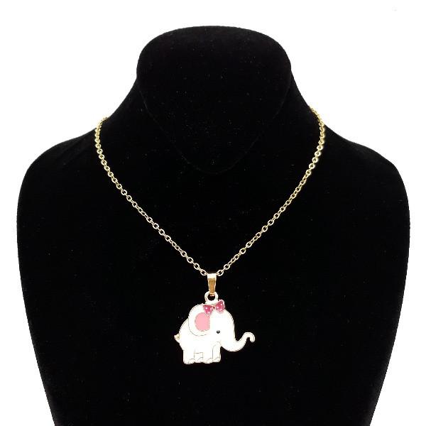 گردنبند دخترانه طرح فیل کد 999