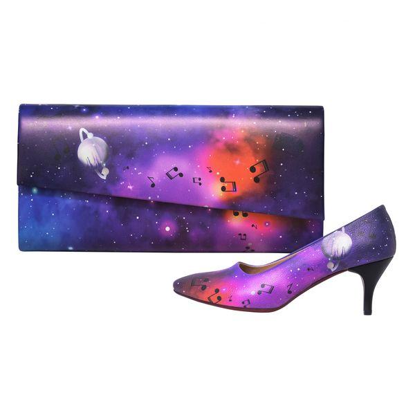 ست کیف و کفش زنانه جاویا طرح کهکشان کد J7007