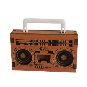 ماکت چوبی طرح ضبط صوت کد hiviu z-01