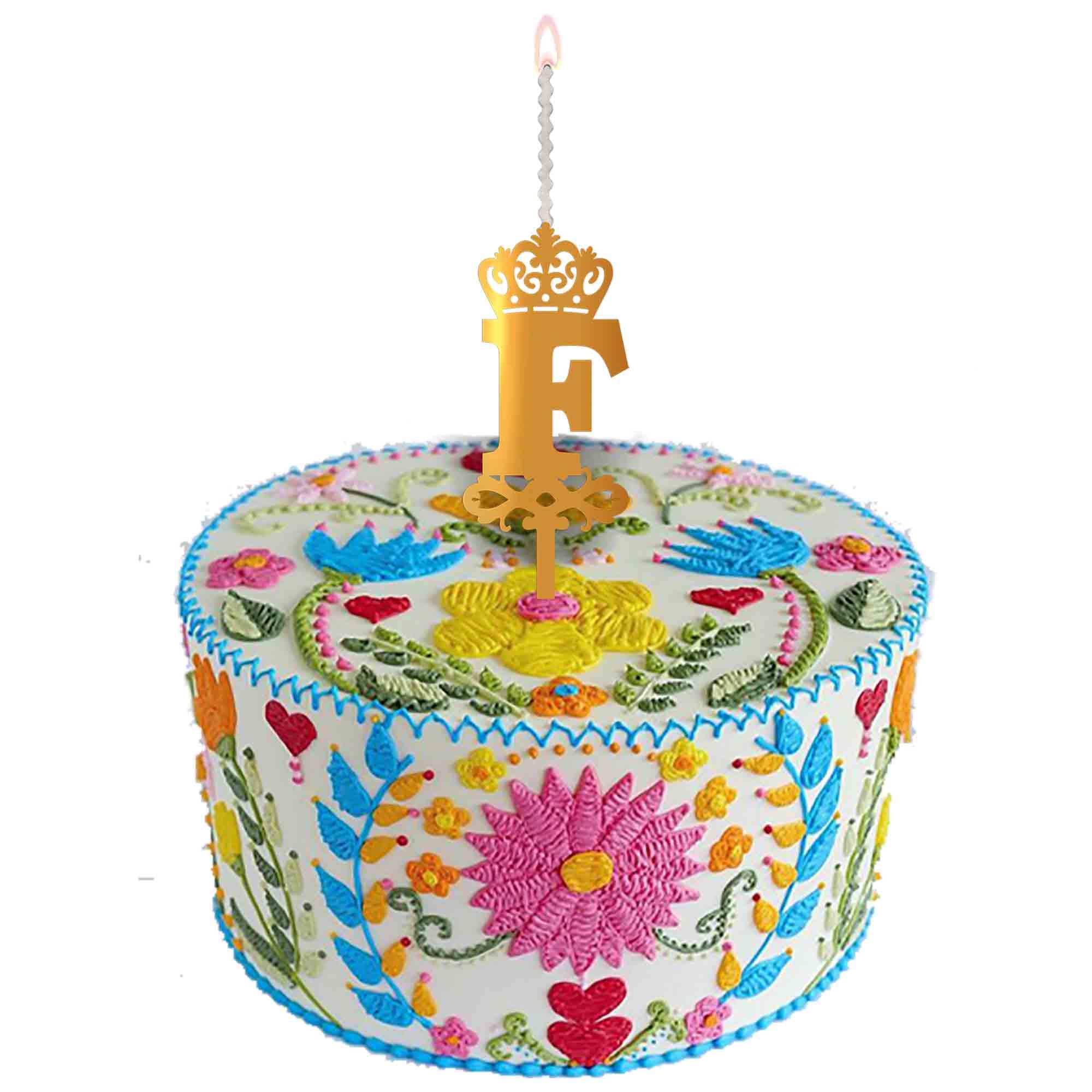 شمع تولد طرح حرف F کد HMF main 1 2