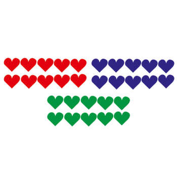 استیکر طرح قلب کد a-208 مجموعه 30 عددی