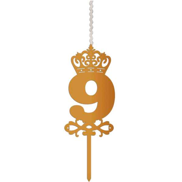 شمع تولد طرح عدد 9 کد AM9