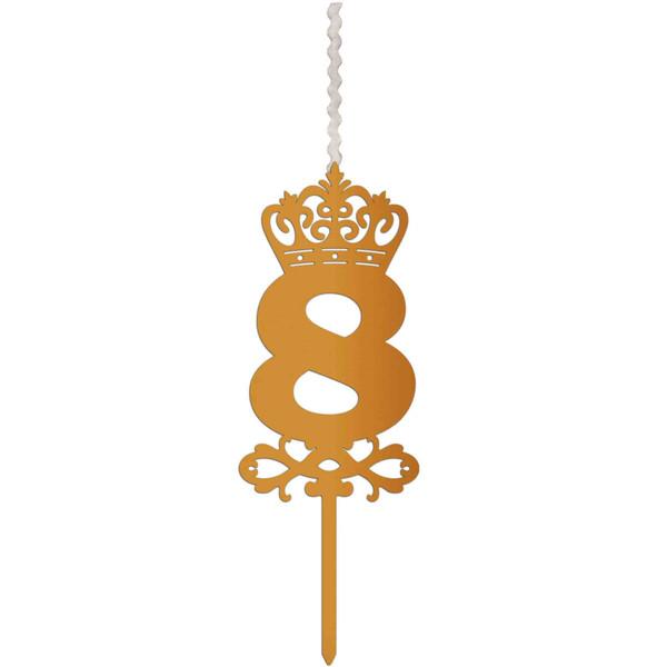 شمع تولد طرح عدد 8 کد AM8
