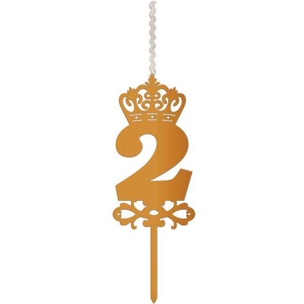 شمع تولد طرح عدد 2 کد AM2