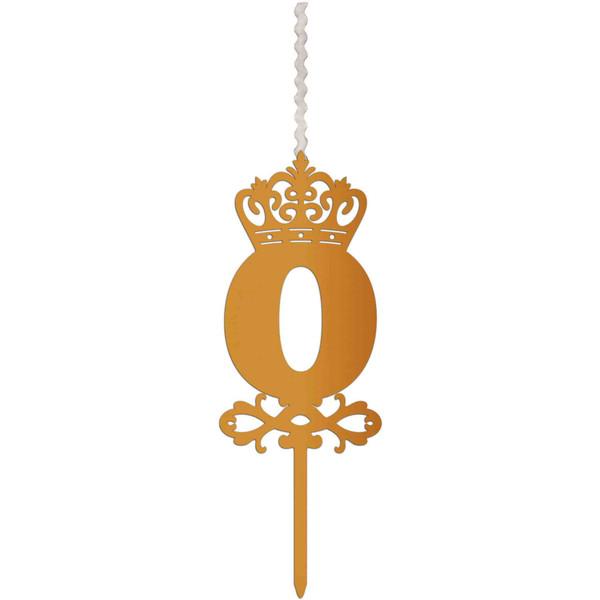 شمع تولد طرح عدد 0 کد AM0