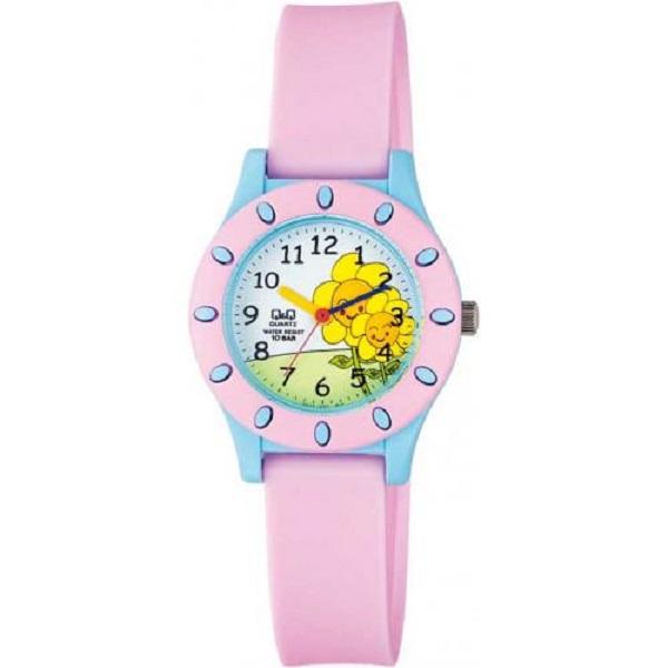 ساعت مچی عقربه ای دخترانه کیو اند کیو مدل vq13j007y