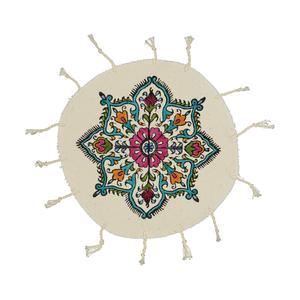 رومیزی چاپ دستی طرح گل کد 501
