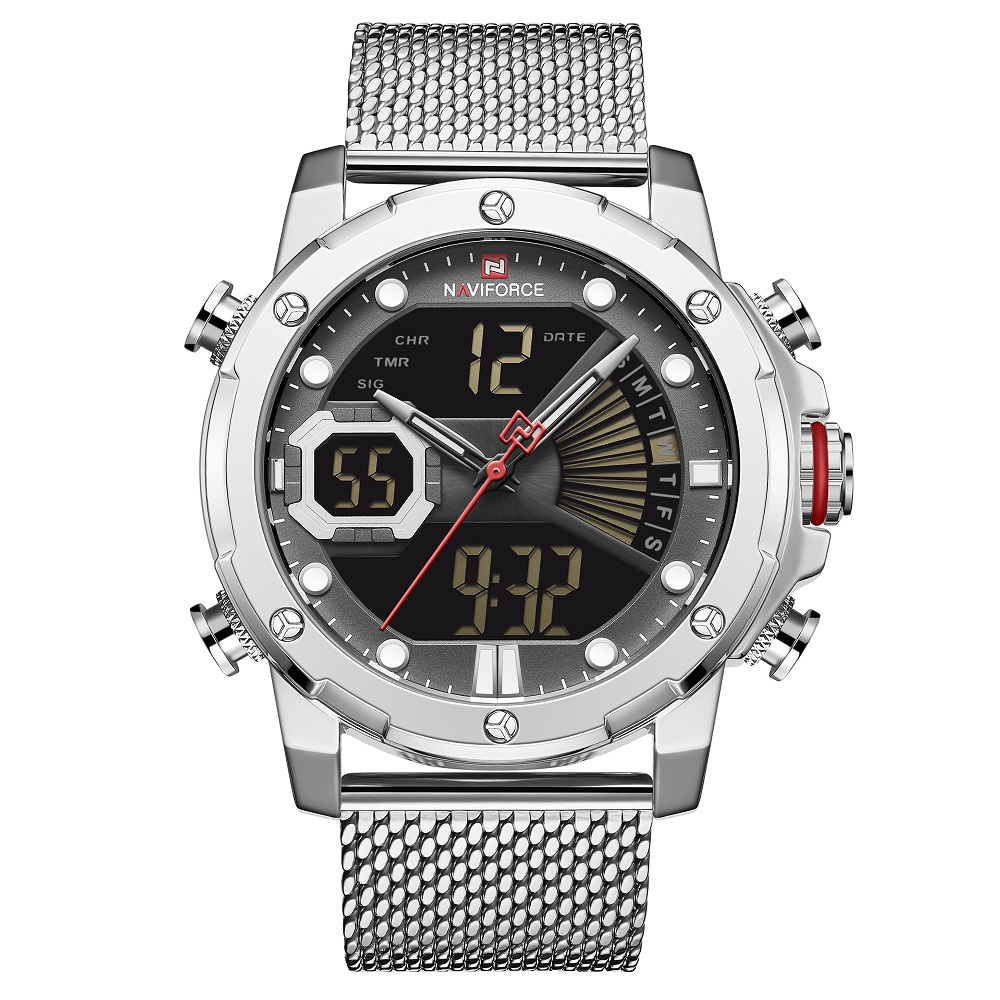 قیمت و خرید                      ساعت مچی عقربه ای مردانه نیوی فورس مدل NF9172S-SBW